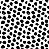 Dots Hand Drawn Seamless Pattern Photographie stock