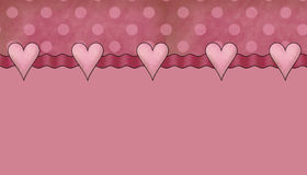 Dots & Hearts Background Stock Image
