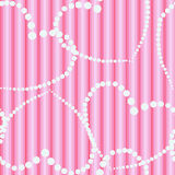 Dots hearts on striped cloth seamless background Stock Photography