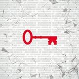 Dots Key relié par Réseau Numérique Images libres de droits