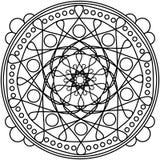 Dots mandala round ornament. Mandala with circles painting coloring page Stock Image