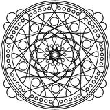 Dots mandala round ornament Stock Image