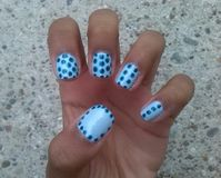 Dots nail art Stock Image