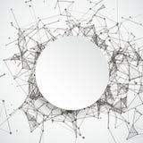 Dots Paper Circle relié par fond abstrait Photo libre de droits