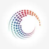Dots Pattern astratto creativo nel moto del cerchio Fotografie Stock Libere da Diritti
