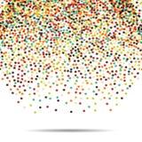 Dots pattern. Casual polka dot texture. Stylish doodle. Vector falling balls. Eps Stock Photography