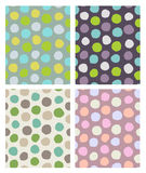 Dots pattern set Stock Images