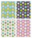 Dots pattern set Stock Images