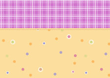 Dots and Plaid Background Stock Photos