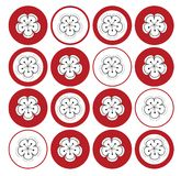 dots röd sakura white Royaltyfri Foto