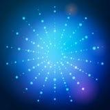 Dots rays Stock Image
