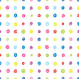 Dots seamless background. Vector seamless background with circles Stock Illustration