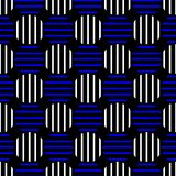 Dots Seamless Background bleu rayé Images stock