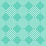 Dots seamless pattern on a green background. Royalty Free Stock Photos