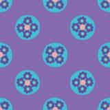 Dots Seamless Vetora Pattern floral brilhante, às bolinhas tirados mão ilustração royalty free