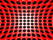 Dots Shiny Background métallique industriel rouge Image libre de droits