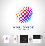 Dots Sphere, Dots Vector Logo Stock Images