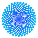 Dots spiral - mathematical pattern, abstract over white Stock Image