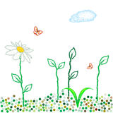 Dots spring meadow Royalty Free Stock Photos