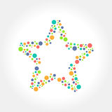 Dots Star logo and icon design. A simple symbol for your business that quite unique so it can stand from the crowd. Easy to implement in future needs Royalty Free Stock Images