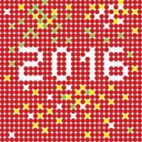 2016 dots stencil Stock Image
