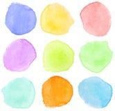 dots vattenfärg Royaltyfri Bild