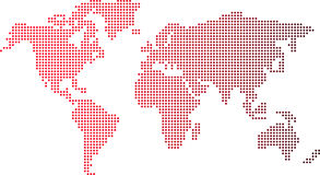 Dots world map Stock Image