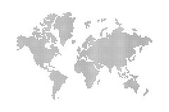 Dots world map. On white background Royalty Free Stock Photos
