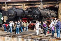 Dott crudo Class 52,80 di Stendal della locomotiva a vapore e Skoda Plzen 1492 Fotografia Stock Libera da Diritti