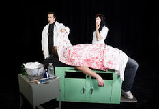 Dott. O. Crap & infermiera Oops immagine stock