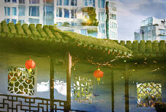 Dott. Riflessioni del giardino di Sun Yat-sen, Vancouver Immagini Stock