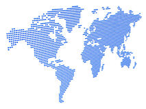 Dotted 3D world map Stock Photography