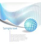 Dotted Abstract template background royalty free illustration