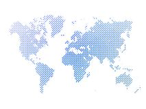 Dotted abstract vector map of World Royalty Free Stock Images
