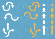 Dotted Arrows Design Elements Royalty Free Stock Images