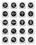 Dotted arrows round icons set isolated on white royalty free illustration