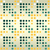 Dotted arrows seamless pattern Royalty Free Stock Images