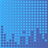 Dotted Background. Blue circles on blue gradient background stock illustration