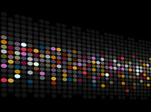 Dotted background. Abstract dotted background in many colours Royalty Free Stock Image