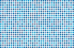 Dotted background with circles, dots, point Different shades of blue. Halftone pattern. Design element for web banners, posters, cards, wallpapers, sites Stock Image