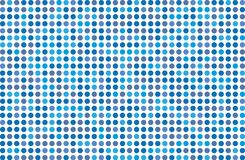 Dotted background with circles, dots, point Different shades of blue. Halftone pattern. Design element for web banners, posters, cards, wallpapers, sites Royalty Free Stock Images