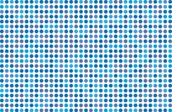 Dotted background with circles, dots, point Different shades of blue. Halftone pattern. Design element for web banners, posters, cards, wallpapers, sites Stock Photos