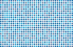 Dotted background with circles, dots, point Different shades of blue. Halftone pattern. Design element for web banners, posters, cards, wallpapers, sites Stock Photography