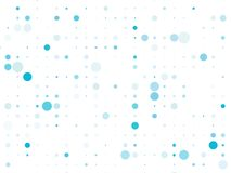 Dotted background with circles, dots, point different size, scale. Bokeh pattern. Design element for web banners, posters, cards, wallpapers, sites, panels royalty free illustration