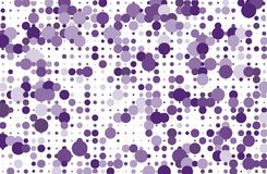 Dotted background with circles, dots, point different size, scale Halftone pattern Purple, violet color Vector illustration Stock Photography