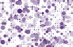 Dotted background with circles, dots, point different size, scale. Halftone pattern Vector illustration  Violet, purple color Stock Images