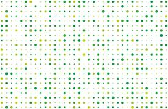 Dotted background with circles, dots, point different size, scale. Halftone pattern. Green on white color Vector illustration. Dotted background with circles Royalty Free Stock Photo