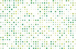 Dotted background with circles, dots, point different size, scale. Halftone pattern. Green on white color Vector illustration. Dotted background with circles Stock Image