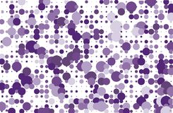 Dotted background with circles, dots, point different size, scale Halftone pattern Purple, violet color Vector illustration Royalty Free Stock Images