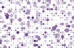 Dotted background with circles, dots, point different size, scale. Halftone pattern Vector illustration  Violet, purple color. Dotted background with circles Royalty Free Stock Photos